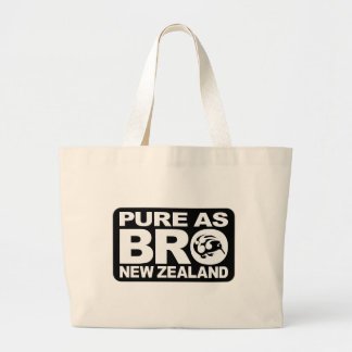 Pure as bro, New Zealand Large Tote Bag