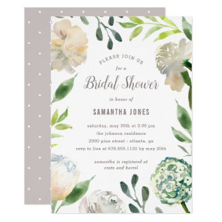 Pure Beauty EDITABLE COLOR Shower Party Invitation