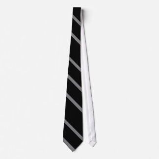 Pure black and grey striped tie