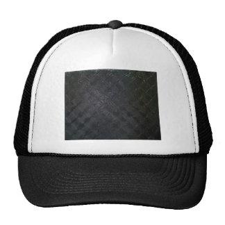 Pure Black Wet Diamond Pattern (pattern painting) Cap