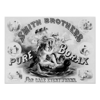 Pure Borax Soap Vintage Advertisement Poster
