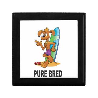 pure bred hip dog small square gift box