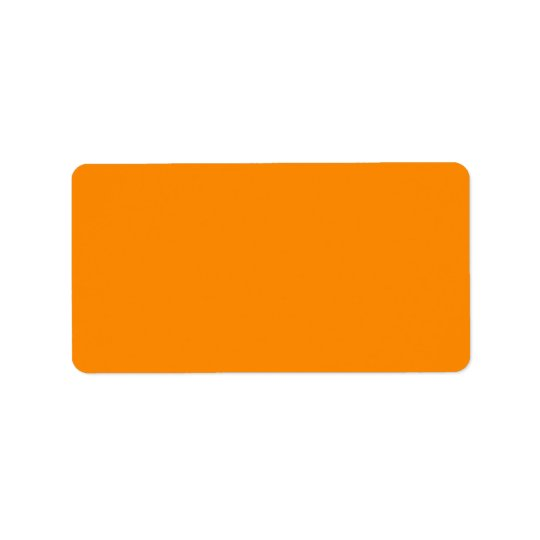 Pure Bright Orange Customised Template Blank Address Label