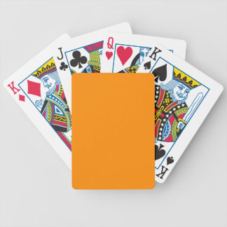 Pure Bright Orange Customized Template Blank Bicycle Playing Cards