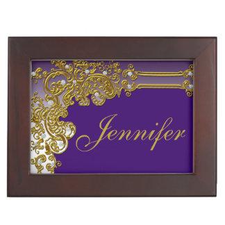 Pure Elegance Personalized Keepsake Box