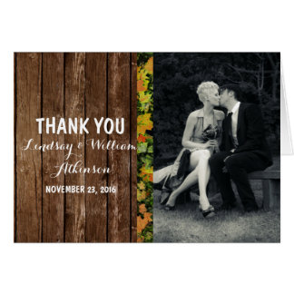 Pure Elegance Photo Black and White thank you Note Card