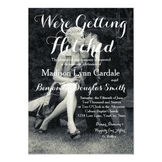 Pure Elegance Photo Black and White Wedding 11 Cm X 16 Cm Invitation Card