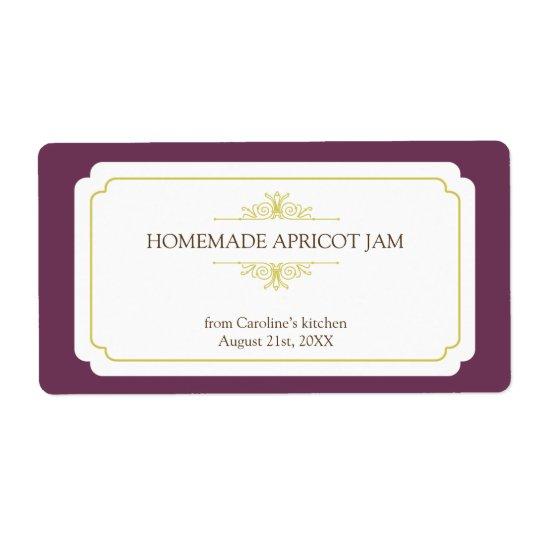 Pure elegance solid plum frame kitchen stickers