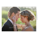 Pure Elegance Wedding Thank You Card - White Cards