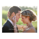 Pure Elegance Wedding Thank You Card - White Postcards