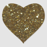 Pure Gold Glimmer Heart Stickers