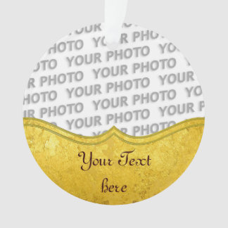PURE GOLD LEAF Border + your text / photo