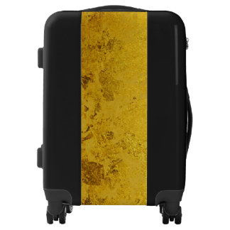 PURE GOLD LEAF Pattern + your text / ideas Luggage