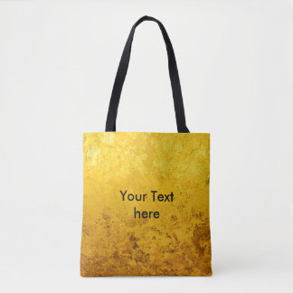 PURE GOLD LEAF Pattern + your text / photo Tote Bag