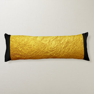 PURE GOLD PAPER Pattern + your text / photo Body Cushion