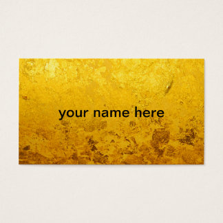 PURE GOLD pattern / gold leaf Business Card
