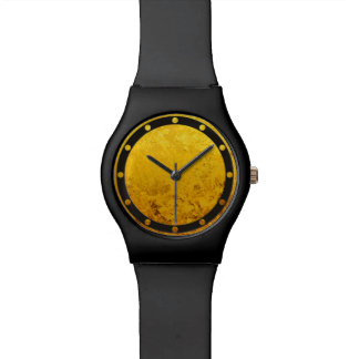 PURE GOLD pattern / gold leaf Wrist Watches