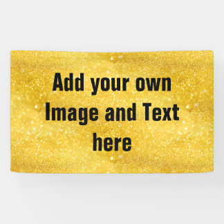 PURE GOLD Sparkles Pattern + your text / photo Banner