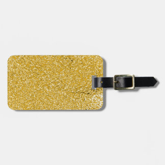 PURE GOLD Splatter Pattern + your text Bag Tag