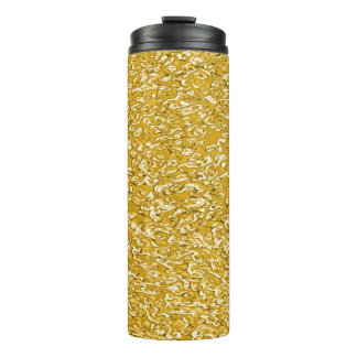 PURE GOLD Splatter Pattern + your text / photo Thermal Tumbler