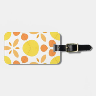 Pure Happiness Yellow Retro Style Pillow Bag Tag