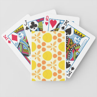 Pure Happiness Yellow Retro Style Pillow Bicycle Playing Cards