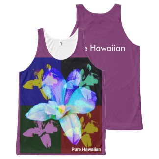 Pure Hawaiian Orchid All-Over Print Singlet