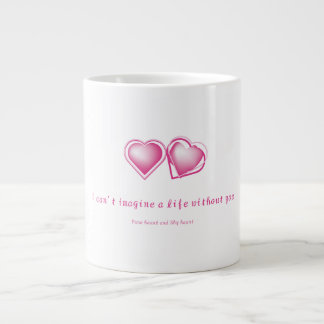 Pure heart and Shy heart Large Coffee Mug