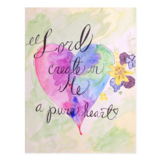 Pure Heart Post Card