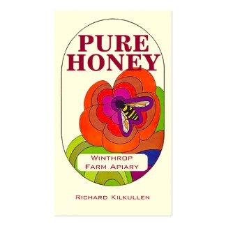 Pure Honey Pop Art Flowers Business Card