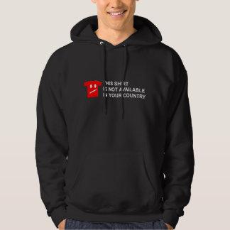 Pure Irony - White on Dark Hooded Sweatshirts