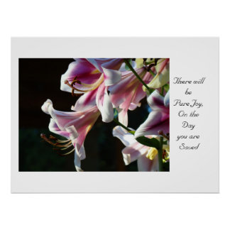 Pure Joy on the Day You are Saved art print Lily