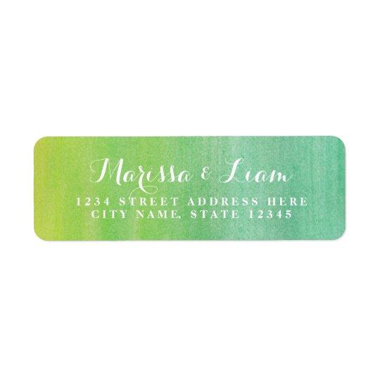 Pure Love Return Address Label / Lime Emerald