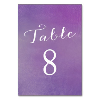 Pure Love Table Number Cards / Violet