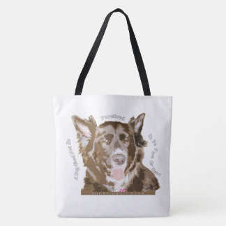 Pure of Heart Rescue Dog Quote Tote Bag