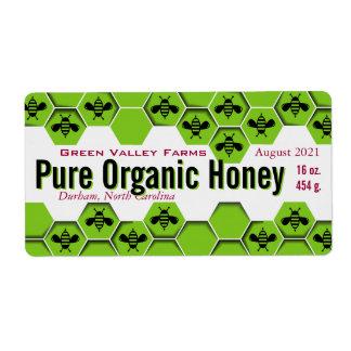 Pure Organic Honey Jar Personalised Shipping Label