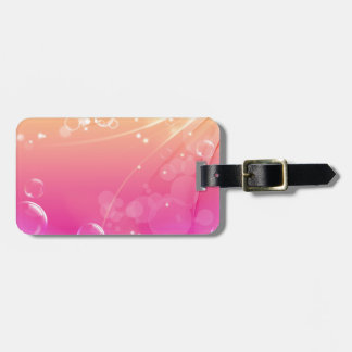 Pure pink abstract background glowing luggage tag