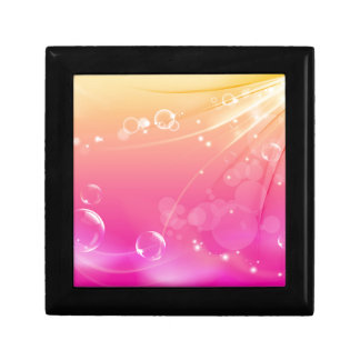 Pure pink abstract background glowing small square gift box