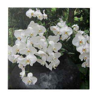 Pure prefection White flowers, Small Square Tile