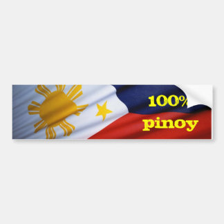 pure products 100% pinoy bumper sticker