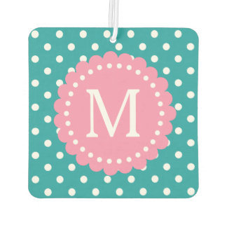 Pure Turquoise and White Polka Dot with Lime