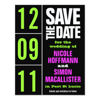 Pure Type Save The Date Card