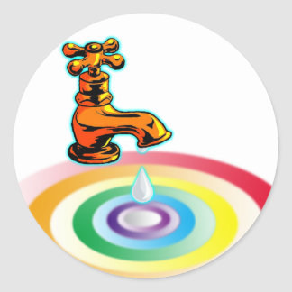 Pure Water Classic Round Sticker