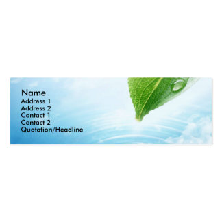 Pure Water profile card template Pack Of Skinny Business Cards