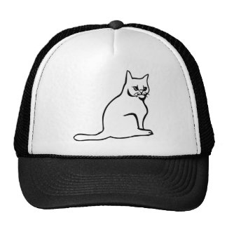 Pure White Cat Sitting Hat