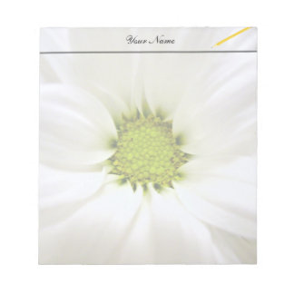 pure white daisy flower notepad