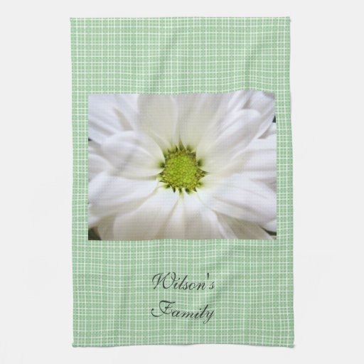 pure white daisy flower towels