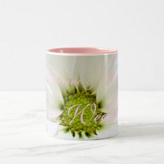 pure white daisy flower wedding coffee mug