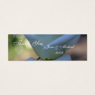 Pure White Rose Mini Business Card
