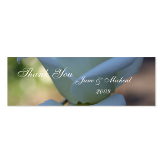 Pure White Rose Pack Of Skinny Business Cards